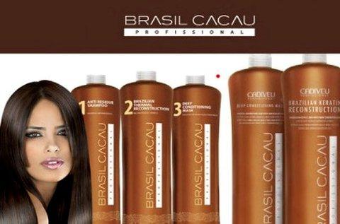 Brazil Cacau tartós hajegyenesítés hajvágással