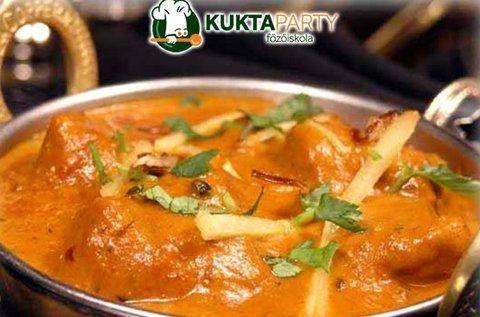 Egzotikus India főzőkurzus italfogyasztással