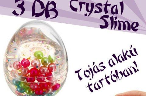 3 db-os Crystal Slime Egg csillogó folyékony gyurma