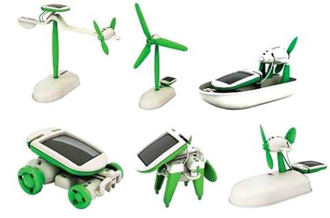 6 az 1-ben készségfejlesztő napelemes robot játék
