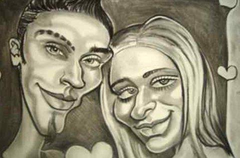 Valentin napi karikatúra készítés párokról
