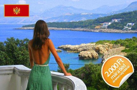 8 napos tengerparti nyaralás Montenegróban