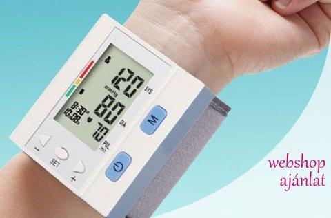 Csuklóra helyezhető digitális vérnyomásmérő