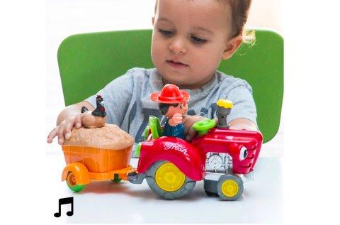 Akadálykerülő traktor fénnyel és hanggal