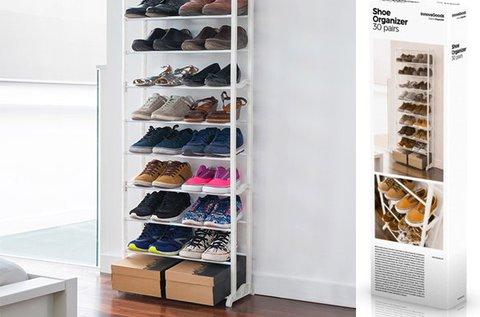 Mobil polcrendszer 30 pár cipő tárolására