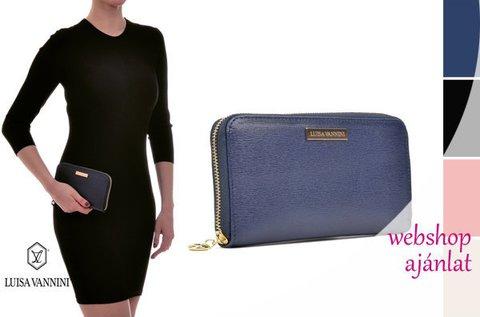 Luisa Vannini Fonte bőr pénztárca 6 színben