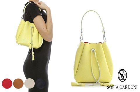 Sofia Cardoni Jane baggy formájú bőrtáska