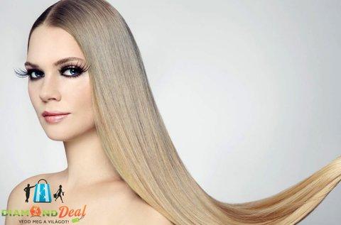 100 tincs, 50 cm hosszú emberi haj felrakása