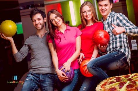 2 óra bowlingozás akár 6 főnek + 1 db finom pizza