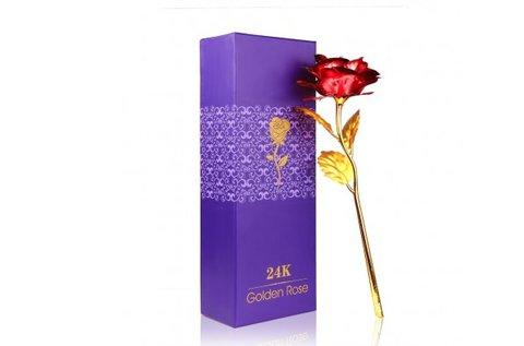24 karátos gyönyörű aranyozott rózsa
