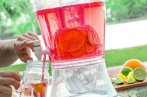 7,5 l-es gyümölcsszűrős, jégtartós italszervírozó