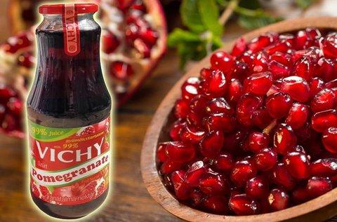 12 üveg 1 l-es Vichy 99%-os gránátalma nektár