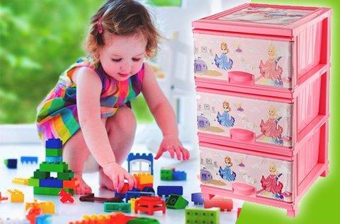 3 fiókos gyermekkomód műanyagból