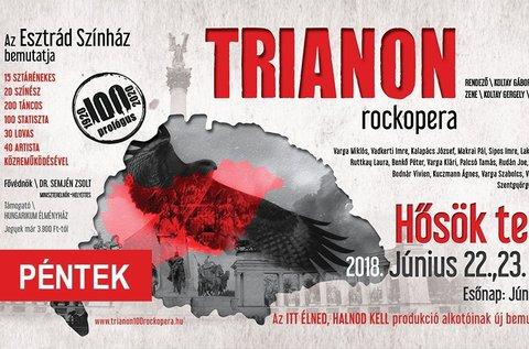 Belépő a Trianon című rockoperára a Hősök terén
