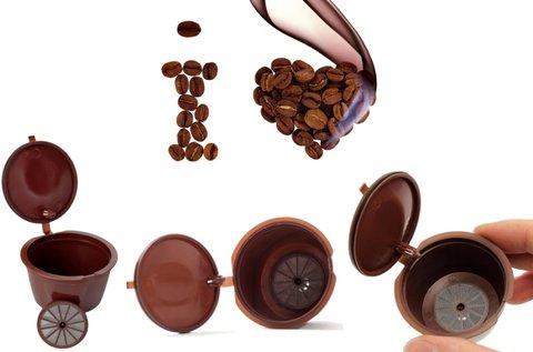 2 db újratölthető műanyag kávékapszula
