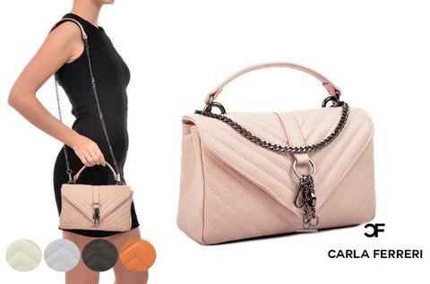 Kis méretű Carla Ferreri Gloss bőrtáska 5 színben