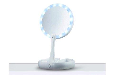 LED-es sminktükör összecsukható kivitelben