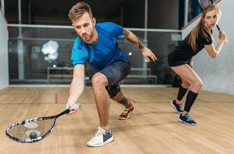 1 óra squash játék felszereléssel 2 főnek