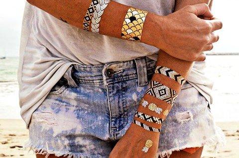 70 db arany és ezüst öntapadós tetoválás
