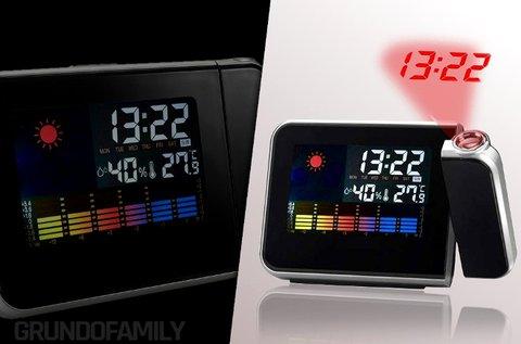 Időjárás állomás projektoros órával, LCD kijelzővel