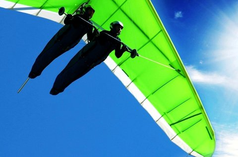 Tandem, motoros sárkány- vagy siklóernyős repülés