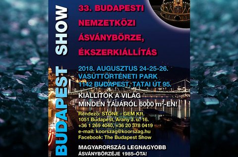 Belépő a Budapesti Nemzetközi Ásványbörzére