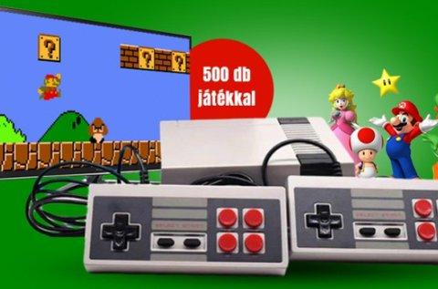 Retro játékkonzol 500 db beépített játékkal