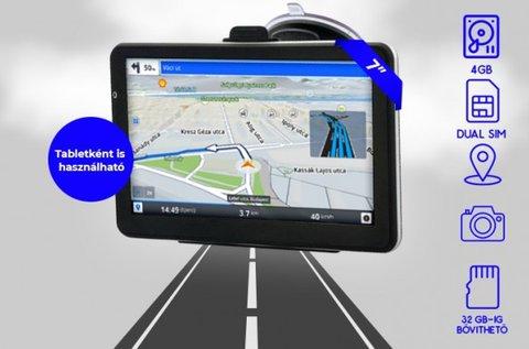 7''-os GPS érintőkijelzővel és világtérképpel