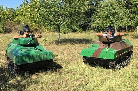 Paintball Mini Tank vezetés, párbaj és csatázás
