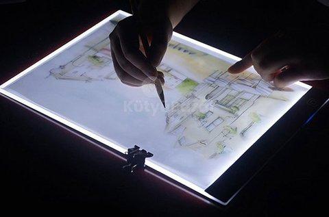 LED rajztábla grafikai munkák átmásolásához