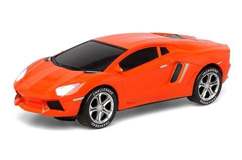 Világító és zenélő autó narancssárga színben