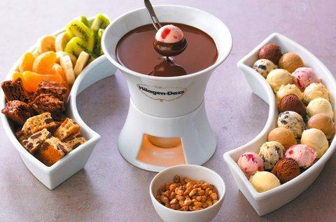 Häagen-Dazs jégkrém fondü 2 főre belga csokival