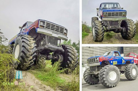 Taposs a gázpedálra Monster Truck BigFoottal!
