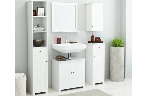 Minőségi 5 részes fehér fürdőszobaszett