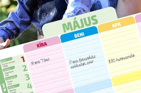 12+1 lapos családi tervező naptár saját fényképekkel