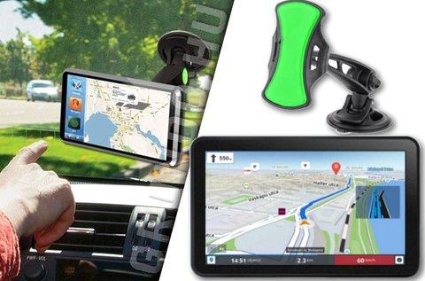 7 colos Android GPS készülék autós tartóval