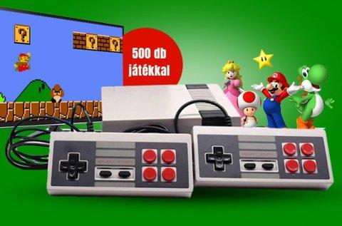 Retro játékkonzol 500 beépített játékkal