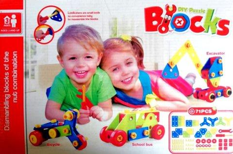 71 részes Blocks építőkocka játék gyerekeknek