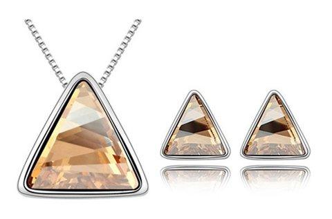 Triangle Huggot nyakék és fülbevaló