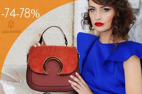 Luisa Vannini divatos táskák és pénztárca bőrből