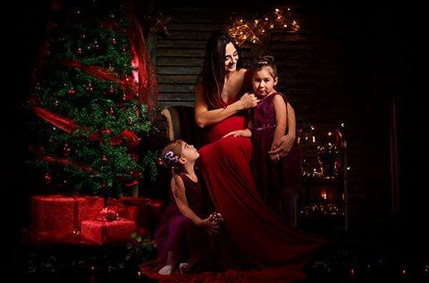 1 órás karácsonyi fotózás műteremben
