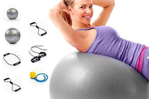 BTK otthoni edzőszett fitness labdával