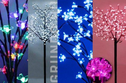 92 LED-es sakura fa dekoráció 6 féle színben