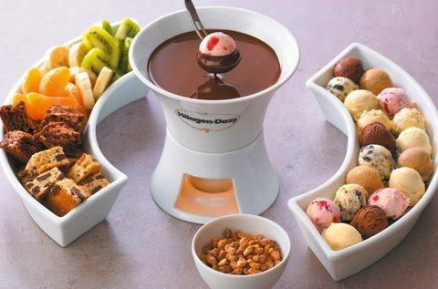 Haagen-Dazs jégkrém fondü belga csokival 2 főnek