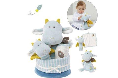 Baby Fehn kék sárkány ajándékszett babáknak