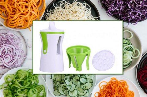 2 darab zöldség és gyümölcs spirálozó eszköz