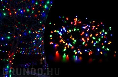 40 m-es színes fényfüzér 500 db LED-del