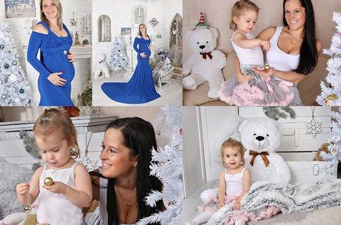 Stúdiófotózás karácsonyi hátterekkel, kiegészítőkkel