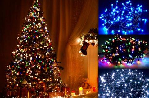 240 LED-es karácsonyi izzósor kül- és beltérre