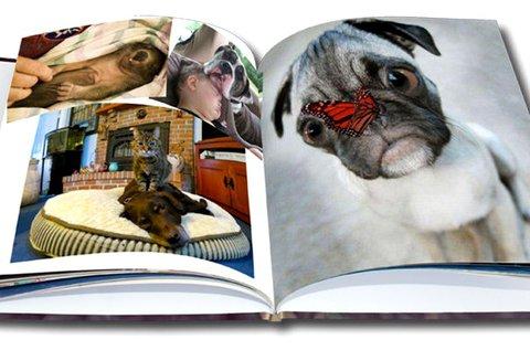 88 oldalas, A5-ös méretű, kemény borítós fotókönyv